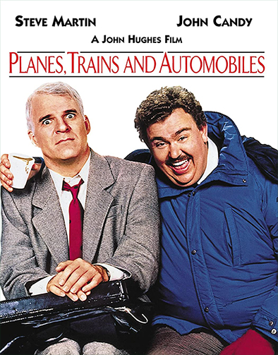 A man must struggle to travel home for Thanksgiving with a lovable oaf of a shower curtain ring salesman as his only companion.